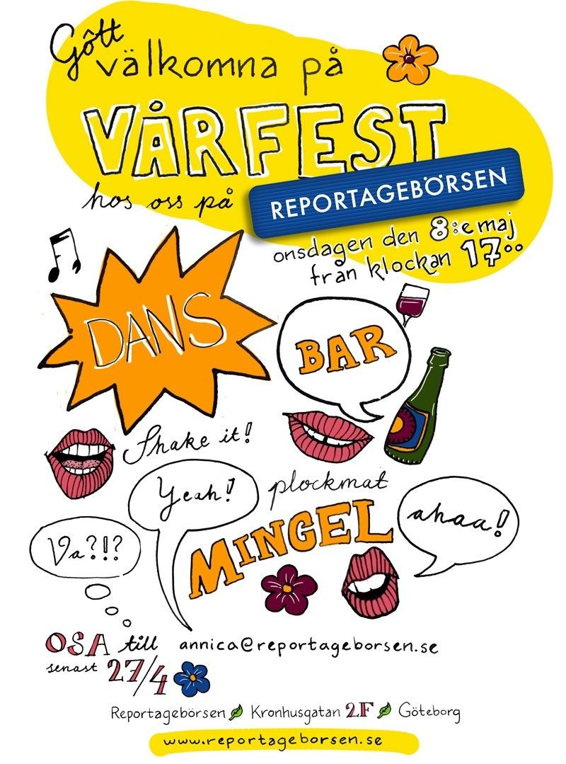 Reportagebörsens vårfest