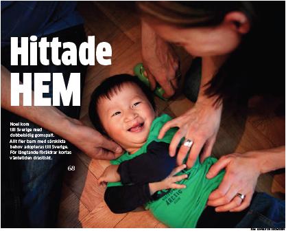 Artikel om adoptioner i Göteborgs-Posten